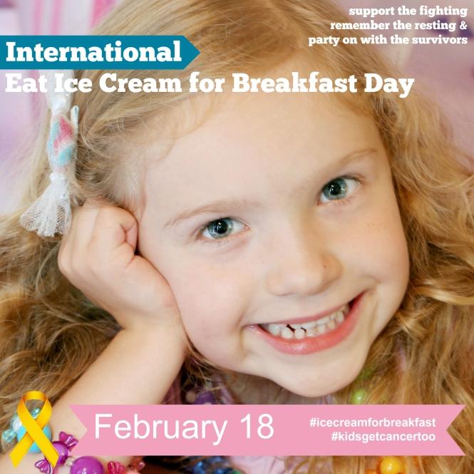 Eat Ice Cream For Breakfast Day